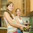 Royalty-Free Stock Photo: Mother and daughter in  kitchen