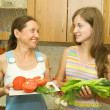 Stock Photo: Women with vegetables