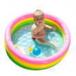 Baby swimming in kid inflatable pool — Stock Photo #6875483