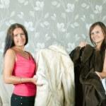 Women make boast of fur coats — Stock Photo #6875749