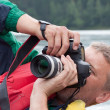 Nature photographer takes pictures — Foto de Stock
