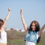 Two happy women — Stock Photo #6875761