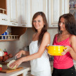 Women cooking at them kitchen — Stock Photo #6875776