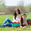 Women relaxing in park — Stock Photo #6875784