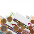 Border of  euro banknotes — Stock Photo