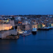 St. Angelo Fort in night. Malta — Stock Photo