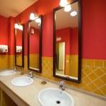 Interior of toilet with few sinks i — Stock Photo #6879112