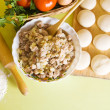 Ingridients for meat pasty — Stock Photo