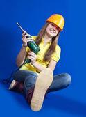Pěkná stavební dělník — Stock fotografie