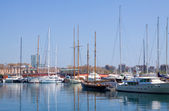 Yachts in Port Vell. Barcelona — Stock Photo