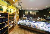 European food shop — Stock Photo