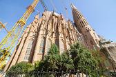 крупным планом церковь святого семейства — Стоковое фото