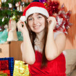Happy woman celebrating Christmas — Stock Photo #7559668