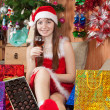 Happy girl celebrating Christmas — Stock Photo #7559689
