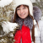 retrato de Inverno de menina — Foto Stock