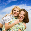 Royalty-Free Stock Photo: Two happy girls