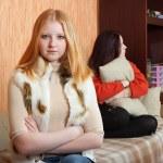 Girls having quarrel at home — Stock Photo #7568290