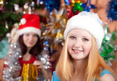 Christmas portrait — Stock Photo