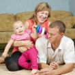 Happy parents with baby — Stock Photo #7598327