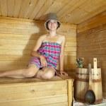 Woman in sauna — Stock Photo #7599132