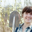 Happy female farmer - Stock Photo