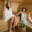 Two  women  in sauna - Foto Stock