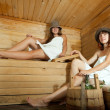 Постер, плакат: Two women in sauna