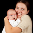 Woman with 1 month baby — Stock Photo #7609911