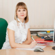 Girl in business outfit in office — Stock Photo #7610717