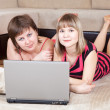 Royalty-Free Stock Photo: Girls using laptop