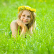 Girl in meadow — Stock Photo