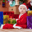 Boy dressed like Santa Claus — Stock Photo #7613180