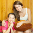 Happy mother with teenager daughter — Stock Photo #7613301
