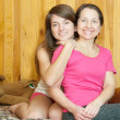 Happy mother with teenager daughter — Stock Photo #7613302