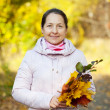 Stock Photo: Outdoor portrait of mature womin autumn
