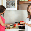 Women cooking at them kitchen — Stock Photo #7613591