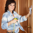 Foto Stock: Womcleaning at home