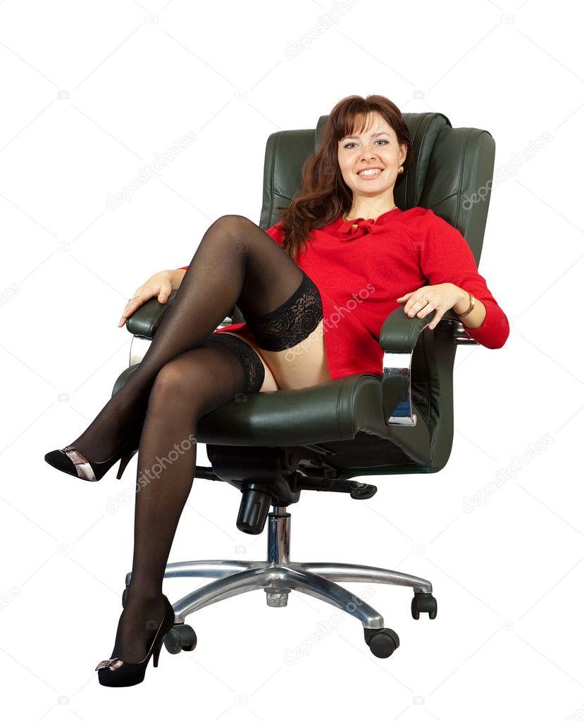 Секс на красном кресле 8 фотография