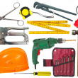 Set of tools over white background — Stock Photo #7632203