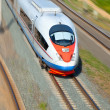 Stock Photo: High-speed train in motion