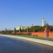 Moscow Kremlin  and   Moskva River — Stock Photo