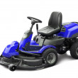 Blue lawn mower — Stockfoto