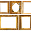 Stock Photo: Gold picture frames