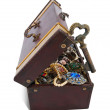 Gold key in treasure chest — Stock Photo #7632458