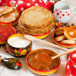 Russian Shrovetide meal — Stockfoto