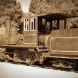 Retro photo of old  locomotive - Stock Photo