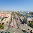 Stock Photo: Wide angle shot of Barcelonport