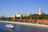 Moskva kreml och moskva floden — Stockfoto