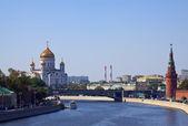 Christ de la cathédrale du sauveur un kremlin de moscou — Photo