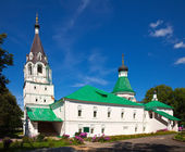 Iglesia de la intercesión en aleksandrov, rusia — Foto de Stock